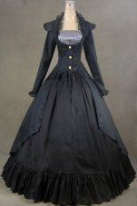 2014 Ocrun Lolita Gothic Victorian Prom Party Evening Dress
