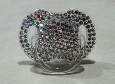 Crystal Swarovski Pacifier Princess Baby Girl Boy by tropical5, $40.00