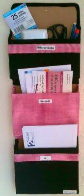 Mimi's Crafty World!: Tutorial: No-sew Fabric Mail Organizer