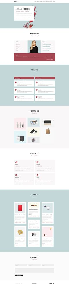 Dora One Page website template