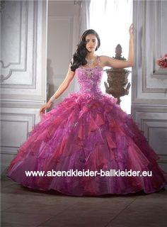 Sissi Kleid Abendkleid Ballkleid Online in Lila Fuchsia