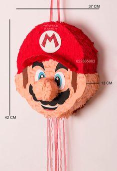 Super Mario Birthday, Mario Birthday Party, Super Mario Party, 6th Birthday Parties, Birthday Ideas, Pinata Game, Pinata Ideas, Diy Piñata, Super Mario Coloring Pages