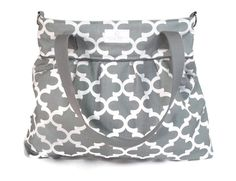 Gray Fynn XL Diaper Bag