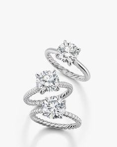 New engagement rings by David Yurman with the signature cable, on the inside of the band!