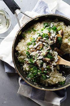 Garlic Butter Mushroom Risotto