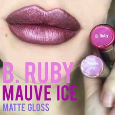 LipSense color combo to try: B Ruby and Mauve Ice with Matte Gloss. Want more awesome combinations to try? -> Lips by Stephie Lip Sense, Lipsense Lip Colors, Lipsense Dupe, Gloss Lipsense, Senegence Makeup, Senegence Products, Kissable Lips, Beautiful Lips, Lip Art
