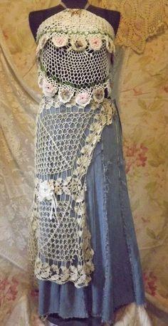creative use of crochet doilies