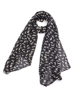 Sincerely Sweet black cat print scarf