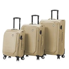 Luggage Sets Collections | Mia Toro Madesimo Softside Spinner Luggage 3 Piece Set Khaki -- To view further for this item, visit the image link.(It is Amazon affiliate link) #tagblender
