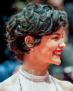 How can I style my short hair more curly like Audrey Tautou - Hair Styles - How can I style my short hair more curly like Audrey Tautou – Hair Styles How can I style my short hair more curly like Audrey Tautou Short Curly Haircuts Short Curly Pixie, Haircuts For Curly Hair, Curly Hair Cuts, Messy Hairstyles, Wavy Hair, Short Hair Cuts, Curly Hair Styles, Pixie Haircuts, Curly Bob