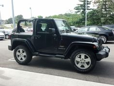 Here is sales consultant Charlie Bisang's Wrangler with a slick Bestop!  This is a terrific top for summer fun www.zimmermotors.com