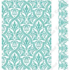 *Cuttlebug 5 x 7 Embossing Folders PIROUETTE Provo Craft Anna Griffin