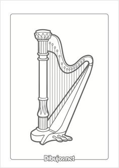 10 Dibujos de Instrumentos Musicales para imprimir y colorear - Dibujos.net Dic, Music Activities, Paper, Piano Lessons, Orchestra, Printable, Monsters, Colors