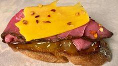 Clinton Kelly's Roast Beef, Cheddar, and Chutney Crostini