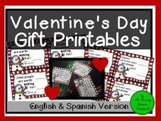 Do you need an inexpensive gift for your students for Valentine's Day? Or....do you need a quick, print-and-go gift for your kids to give their classmates?This product is ready to go in 3 easy steps:1) Print the cards2) Attach an unfrozen Popsicle3) Apply the circular Valentine tabYour students (or kid's classmates) will love this Valentine treat!SPANISH & ENGLISH VERSION PROVIDED!******************************Follow me on Teachers Pay Teachers for more time saving resources!*************...