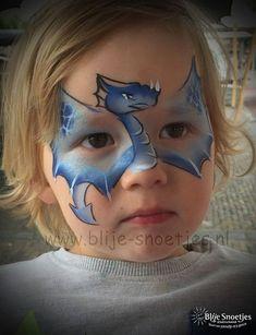 Blije-Snoetjes   Gallery Dragon mask #facepaintingideas