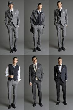 "classiccuteandorhandsomeness: ""mensstyleanddapperness: ""Dapperfied.com "" Let's go grey """