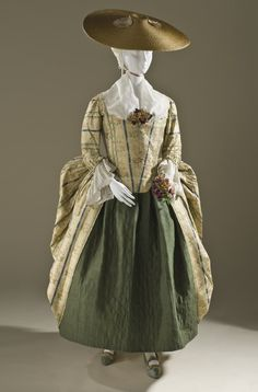 Polonaise gown, France, 1775. From the collection of the LA County Museum of Art.