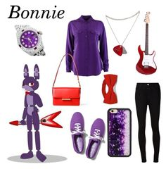 """""""Bonnie (FNAF)"""" by skrillylover16 on Polyvore featuring Laura B, Equipment, AG Adriano Goldschmied, Wildflower, Rolex, Jason Wu and Keds"""