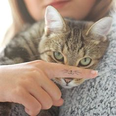 Whiskers for your cat :) tattoo - Tattoos - Cats Fat Cat Tattoo, Lucky Cat Tattoo, Kitty Tattoos, Tiny Cat Tattoo, Tattoo Neck, Hp Tattoo, Tattoo Hand, Tattoo Flash, Pixel Tattoo