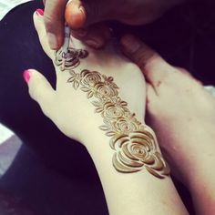 Rose Henna On Pinterest  Henna Arabic Henna And Mehndi