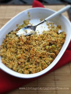 A gluten-free, vegan quinoa stuffing recipe. Quinoa makes a healthy alternative to traditional stuffing. Enjoy some Quinoa Stuffing with your family! Vegan Gluten Free, Gluten Free Recipes, Vegetarian Recipes, Healthy Recipes, Recipes With Sage Vegan, Sage Recipes, Pumpkin Recipes, Healthy Foods, Dairy Free