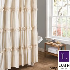 Lush Decor Darla Shower Curtain | Overstock.com Shopping - Great Deals on Lush Decor Shower Curtains