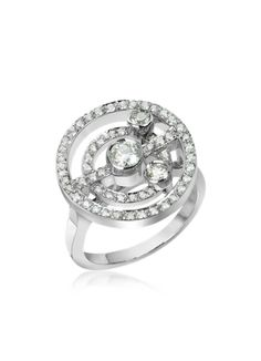 18ct White gold and diamond ring @ Forzieri
