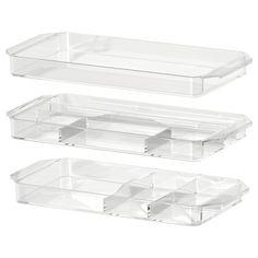 IKEA - GODMORGON, Opberger set van 3, , Gratis 10 jaar garantie. Raadpleeg onze folder voor de garantievoorwaarden.Helpt je bij het netjes opbergen van sieraden en make-up.