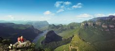 Panorama Route - Blick auf die Three Rondavels. Sie ist ein toller Stopp auf dem Weg zum Krüger Nationalpark