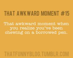 yup..then awkwardly pretending that it never happened