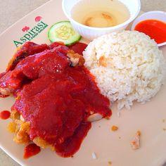 Chicken rice (Aspirasi) Singapore Food, Chicken Rice, Tandoori Chicken, Ethnic Recipes, Arroz Con Pollo