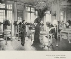 French Hat Shop Millinery Image circa 1910