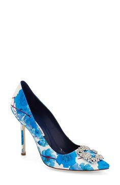 Manolo Blahnik 'Hangisi' Ornamented d'Orsay Pump (Women) available at #Nordstrom