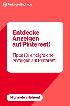 Finde hier Tipps für erfolgreiche Anzeigen auf Pinterest. Digital Marketing Strategy, Online Marketing, Social Media Marketing, Finance Blog, Pinterest For Business, Pinterest Marketing, Social Media Tips, Online Business, Ads