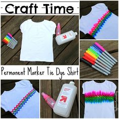 Weekly Style Tip - Summer Hippie Chic -- Modern Tie-Dye! - Craft Ideas - Modern Tie-Dye: Long sleeve T or onesie with giant K for Ike… - Tie Dye Crafts, Crafts To Do, Crafts For Kids, Diy Tie Dye Paint, Teen Girl Crafts, Party Crafts, Diy Tie Dye Shirts, Diy Shirt, T Shirt Crafts