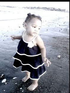 My photography #baby #dress #beach