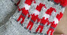 Tonttusukat - neulo lämmin joululahja Mittens, Blanket, Crochet, Knitting Ideas, Slippers, Socks, Tricot, Fingerless Mitts, Fingerless Mittens