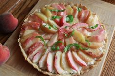 Goat Cheese Honey and Peach Tart