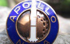 Vintage Apollo NASA Pin by Crest Craft ca. 1969