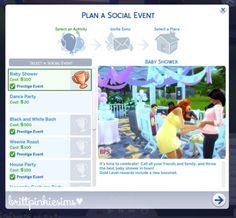 Baby Shower Custom Event Mod at Brittpinkiesims