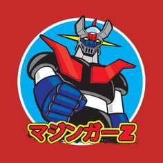 Shop Mazinger Z Retro retro t-shirts designed by as well as other retro merchandise at TeePublic. Science Fiction, Robot Cartoon, Japanese Superheroes, Vintage Robots, Mundo Comic, Super Robot, Anime Tattoos, Arte Horror, Ad Art