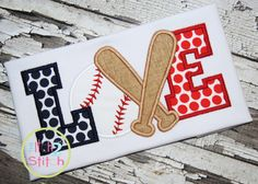 I2S Baseball LOVE #3 Applique design