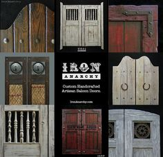 Aged Western Saloon Doors Swinging Bar Pub Ranch by IronAnarchy, $589.00