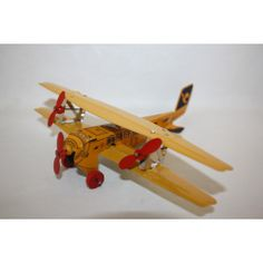 TUCHER WALTHER BIPLANE AIRPLANE TIN TOY MINT MADE IN GERMANY RARE