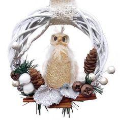 Karácsonyi ajtódísz vessző alapon