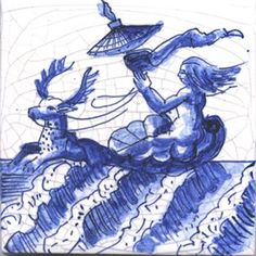 Amphitrite.perfect for a house by the sea!Delft tiles reproduction of the 17 th Century.
