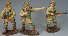 World War II U.S. 82nd Airborne DD021 82nd in Action - Made by King and Country Military Miniatures and Models. Factory made, hand assembled, painted and boxed in a padded decorative box. Excellent gift for the enthusiast.