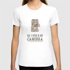 #Society6 #art #decor #tshirts All I Need Is My...