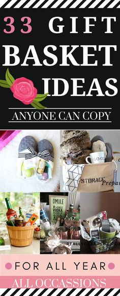 These GIFT BASKET hacks are THE BEST! I am so happy I found these GREAT ideas and tips for gifts! Now I have great ways to gift to friends and family on a budget. So pinning! #gifts #hacks #budget #giftbasket #diy